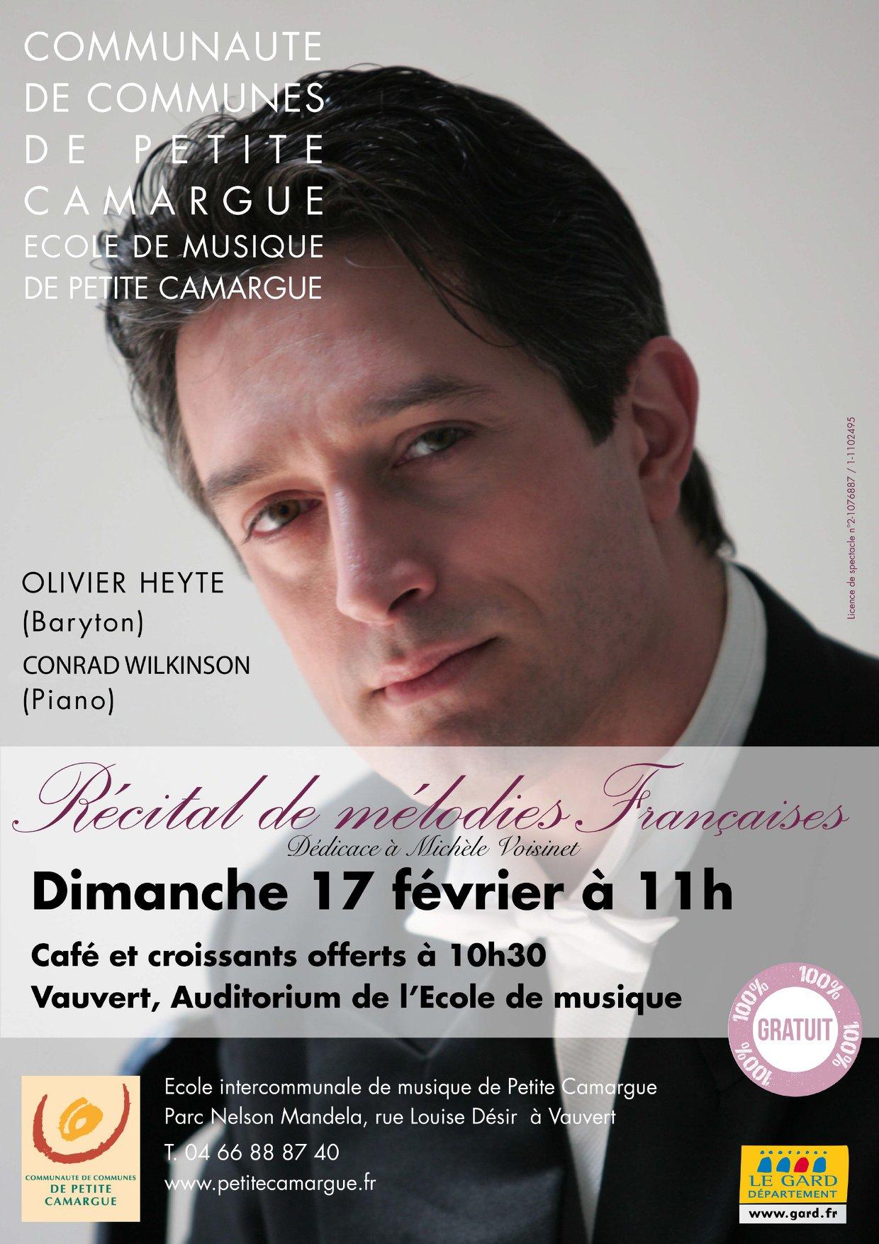 Récital de mélodies françaises @ Auditorium de l'école de musique
