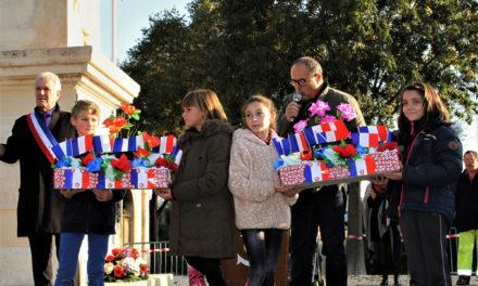 Commémoration de la Grande Guerre par les écoliers de Beauvoisin