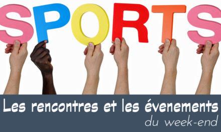 L'AGENDA SPORTIF DU 16 AU 17 FÉVRIER 2019