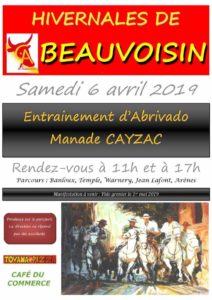Entrainement Abrivado Manade Cayzac @ Beauvoisin