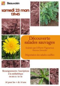 Beauvoisin : Découverte des Salades Sauvages @ médiathèque