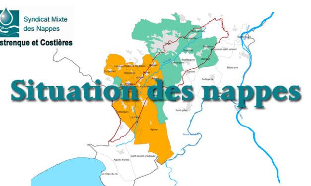 La situation des nappes au 1er mars 2019