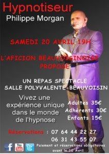 Beauvoisin : Repas avec spectacle Hypnose Philippe Morgan @ Beauvoisin