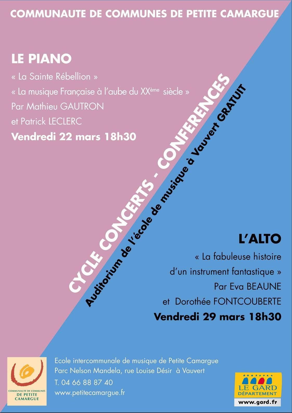 Concert Conférence @ Auditorium de l'école de musique