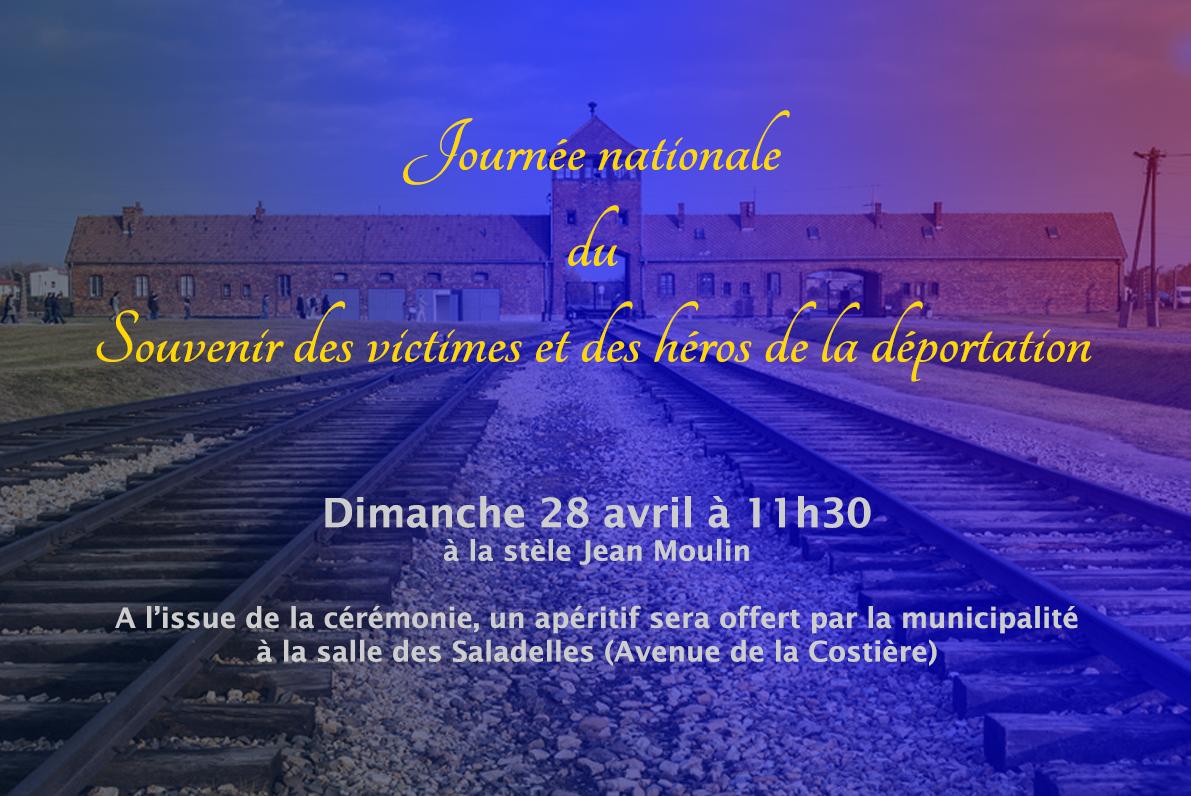 Journée de la déportation @ Stèle Jean Moulin