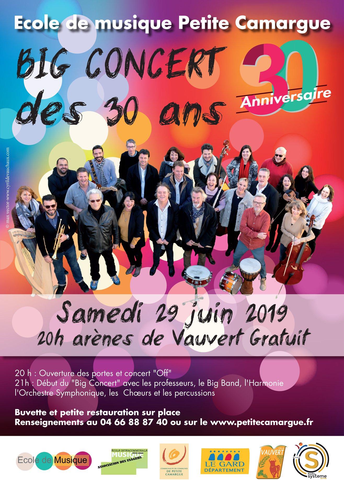 Concert des 30 ans de l'école de musique @ Arènes Jean Brunel