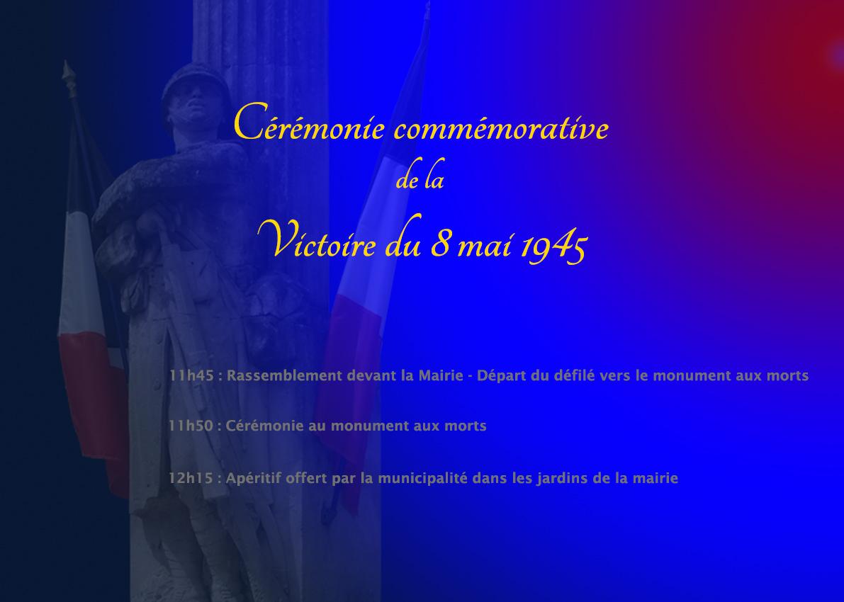 Commémoration du 8 mai @ Monument aux morts et mairie