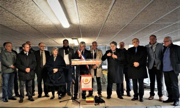 Inauguration du bassin écrêteur de crue d'Aubord