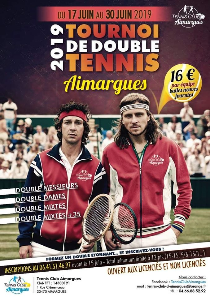 Tournoi de double tennis