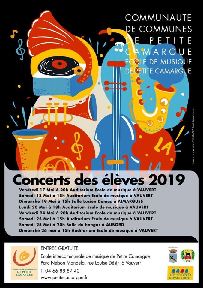 Concert des élèves @ Vauvert, Aimargues et Aubord