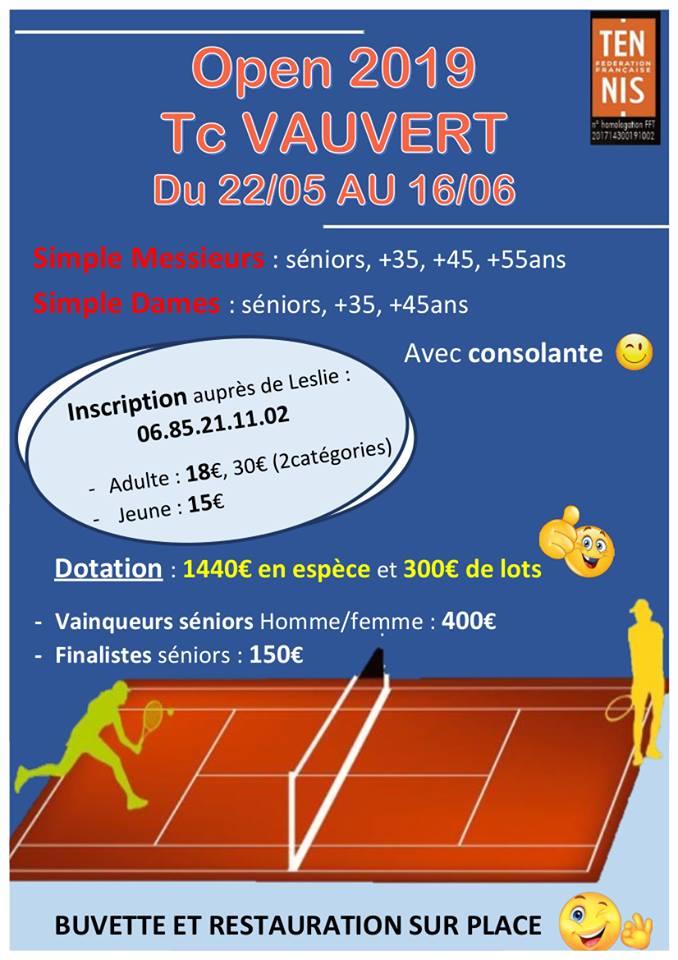 Tournoi de tennis open