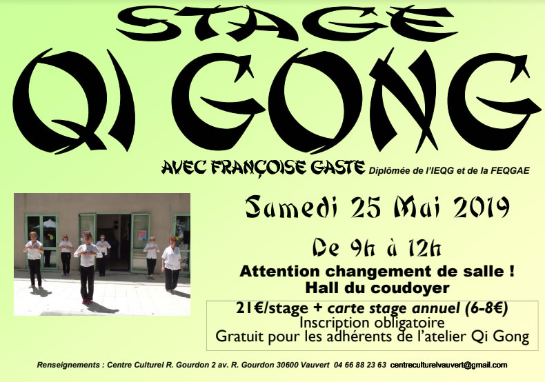 Stage Qi Gong @ Centre Culturel Robert Gourdon