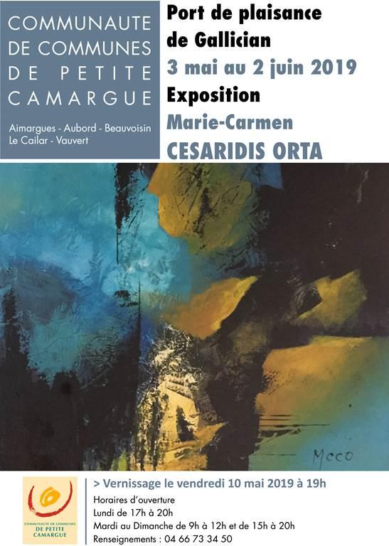 Exposition de peinture de Marie Carmen Cesaridis Orta @ Port de Plaisance