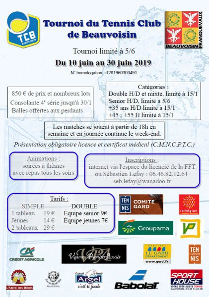 Tournoi Open du Tennis Club de Beauvoisin