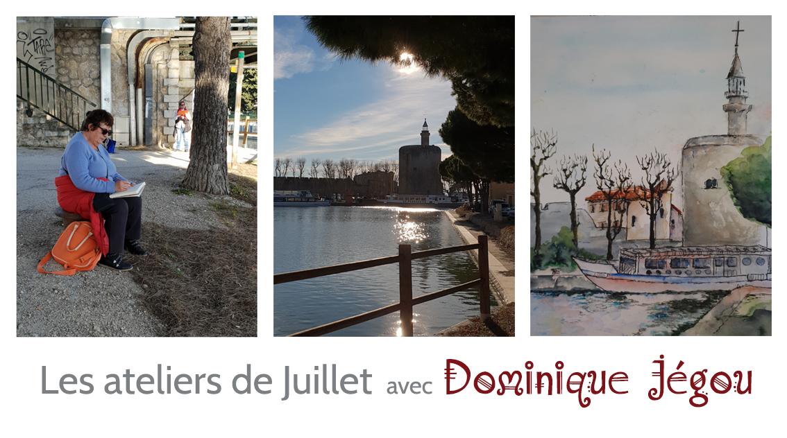 Dessin : Les ateliers de juillet avec Dominique Jégou