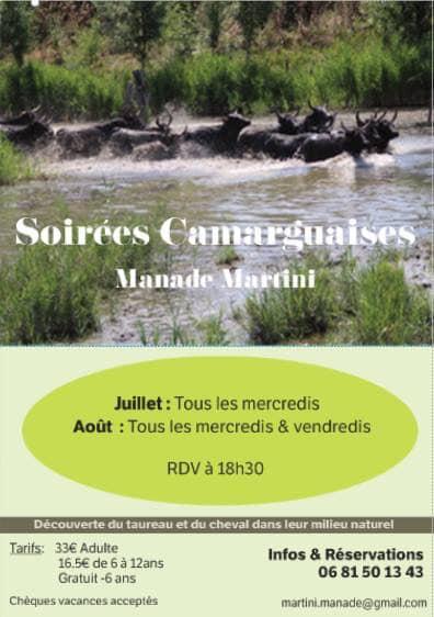 Soirée Camarguaise @ Manade Martini