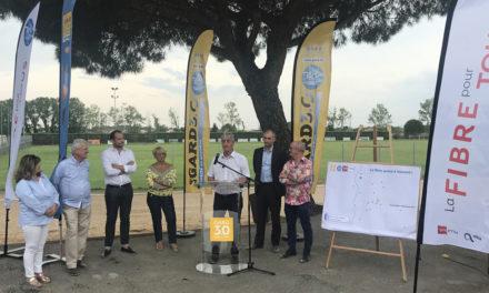 Fibre optique : Le Département a inauguré le 1er Nœud de Raccordement Optique à Vauvert