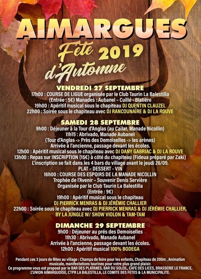 Fête d'automne d'Aimargues @ Centre ville