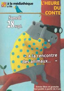 """L'heure du Conte     """"A la rencontre des animaux""""  Beauvoisin @ Médiathéque de Beauvoisin"""