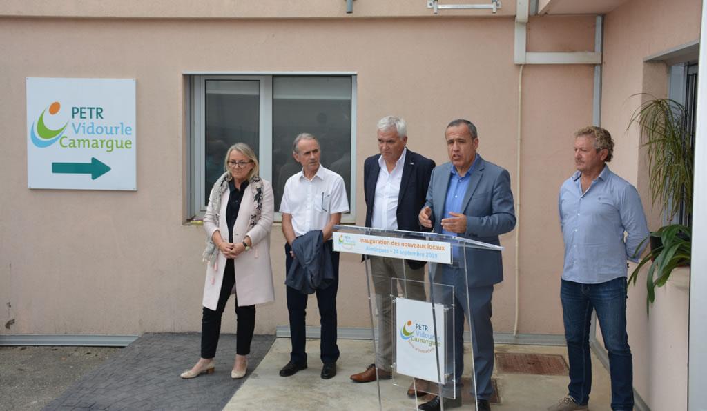 Inauguration des nouveaux locaux du PETR Vidourle Camargue