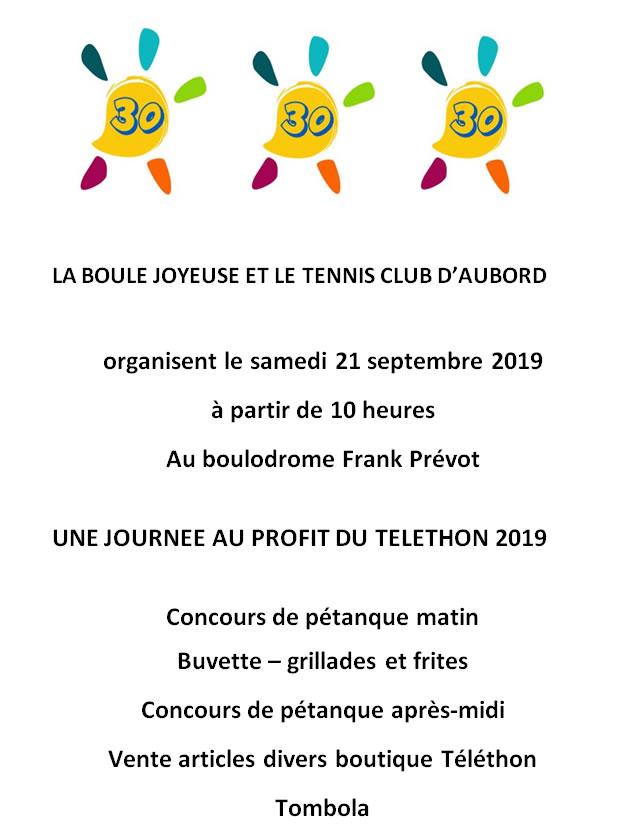 Journée pour le Téléthon Aubord @ Boulodrome Frank Prévot