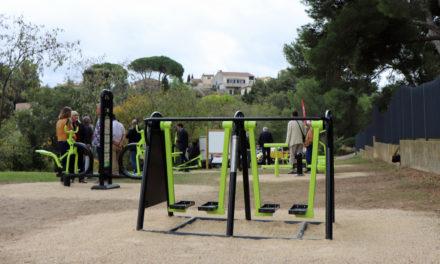 Un parcours de santé et de fitness au Parc du Castellas