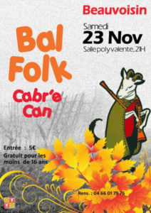 Beauvoisin : Bal Folk Cabr'e Can @ Beauvoisin
