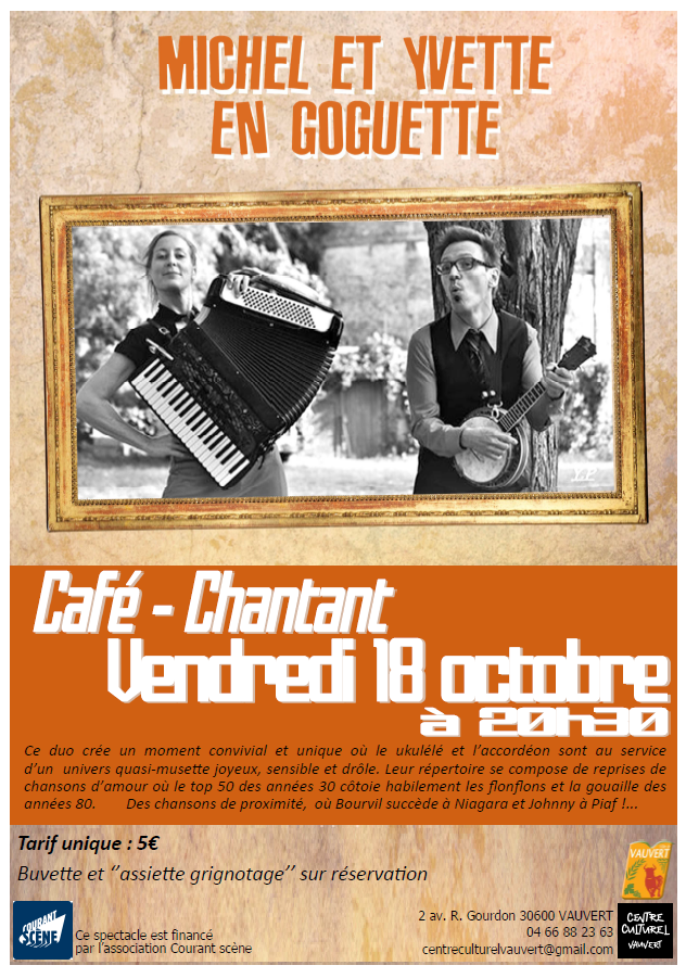 Café-chantant @ Centre culturel R-Gourdon