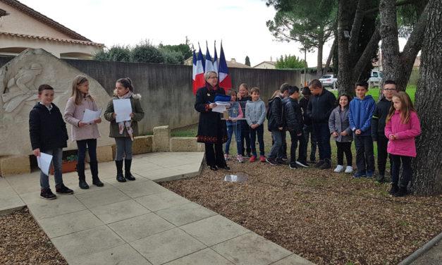 Cérémonie du 11 novembre à Aubord – Transmettre l'Histoire aux jeunes générations