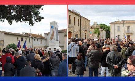 Cérémonies du 11 novembre à Aimargues et à Vauvert