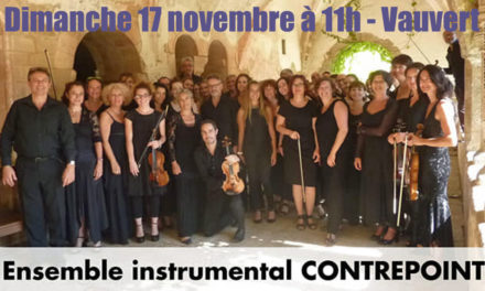 Concert exceptionnel de l'Ensemble instrumental Contrepoint ce dimanche à Vauvert