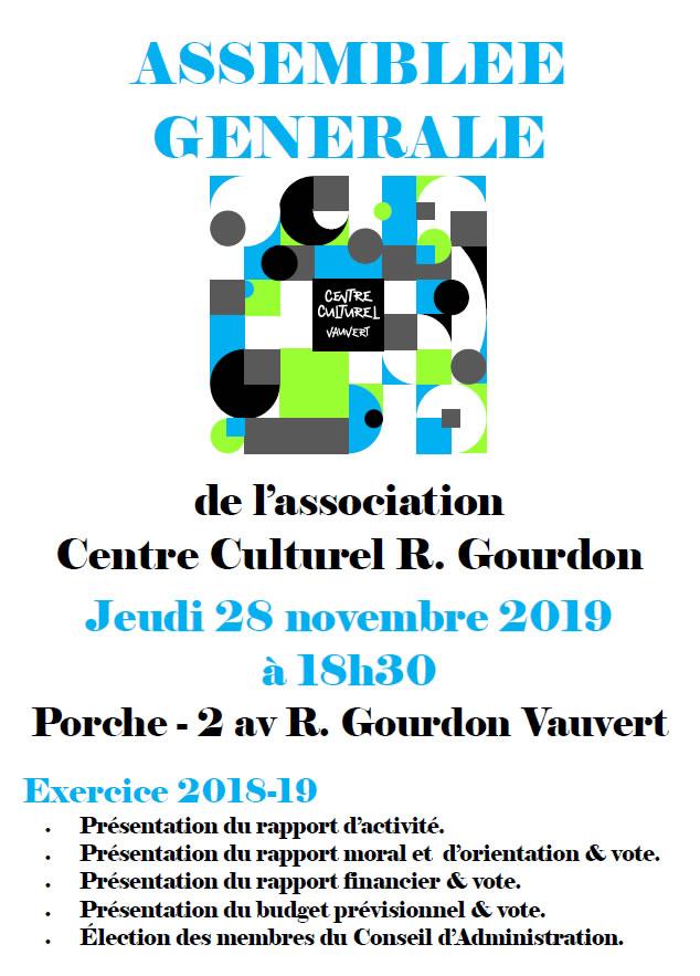 AG Centre culturel @ Centre culturel R-Gourdon