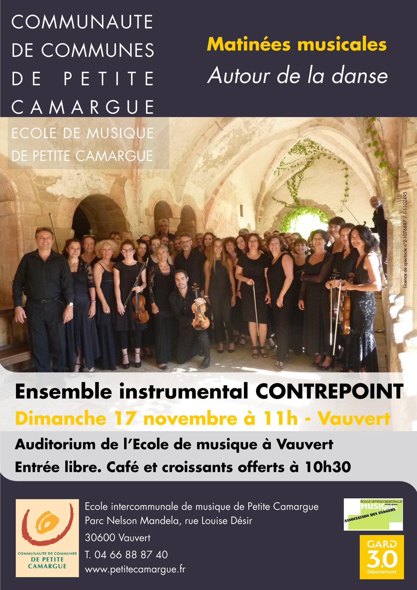 Ensemble instrumental Contrepoint @ Auditorium de l'école de musique