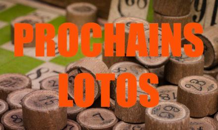 Les prochains lotos du 28 décembre au 3 janvier