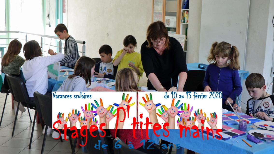 Stages p'tites mains au centre culturel pour les 6 / 12 ans