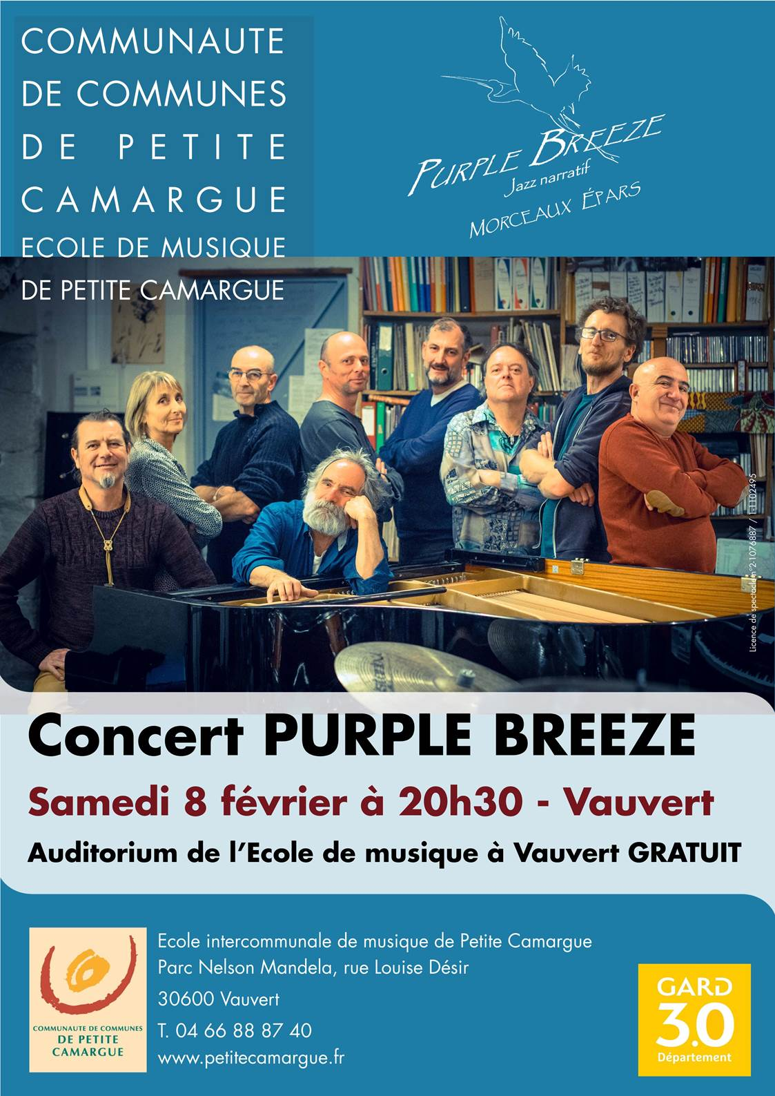 Concert Purple Breeze @ Auditorium de l'école de musique