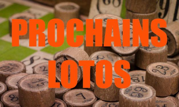 Les prochains lotos du 22 au 27 février