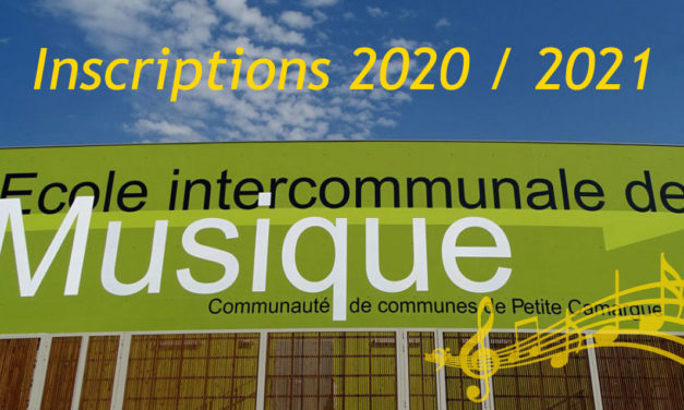 École de musique de Petite camargue : Inscriptions 2020 / 2021