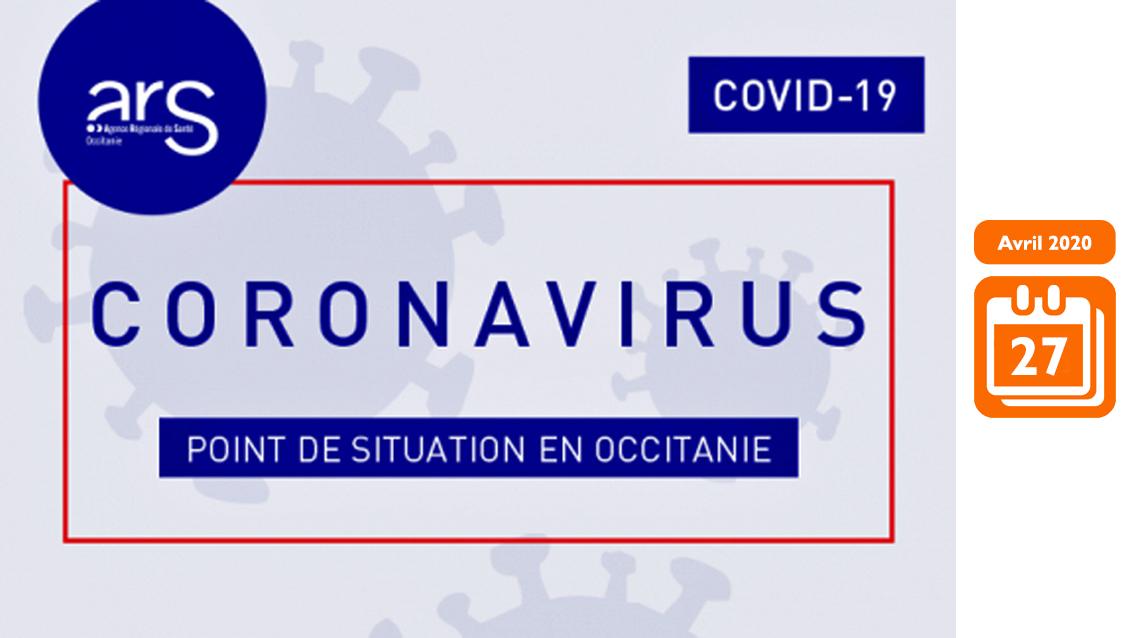 COVID-19 EN OCCITANIE : LE POINT DE SITUATION DE L'ARS LE 27 AVRIL