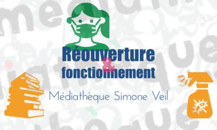 La médiathèque Simone Veil rouvre ses portes ce mardi