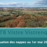 VISTRE VISTRENQUE : LA SITUATION DES NAPPES AU 1ER MAI 2020