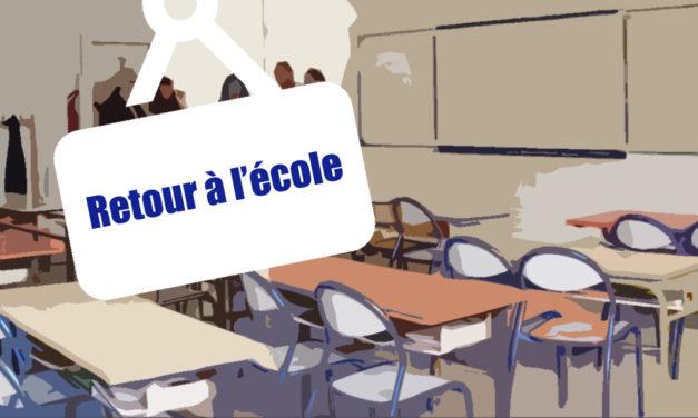 AIMARGUES : PRÉPARATION ET ORGANISATION DU RETOUR A L'ECOLE