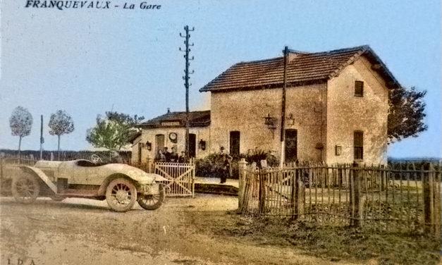 Une photo, une histoire : La gare de franquevaux.