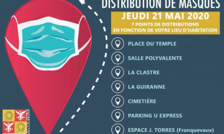 Beauvoisin : Distributions de  masques
