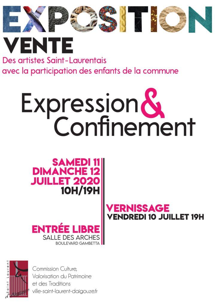 Expo Expression & Confinement @ Salle des Arches