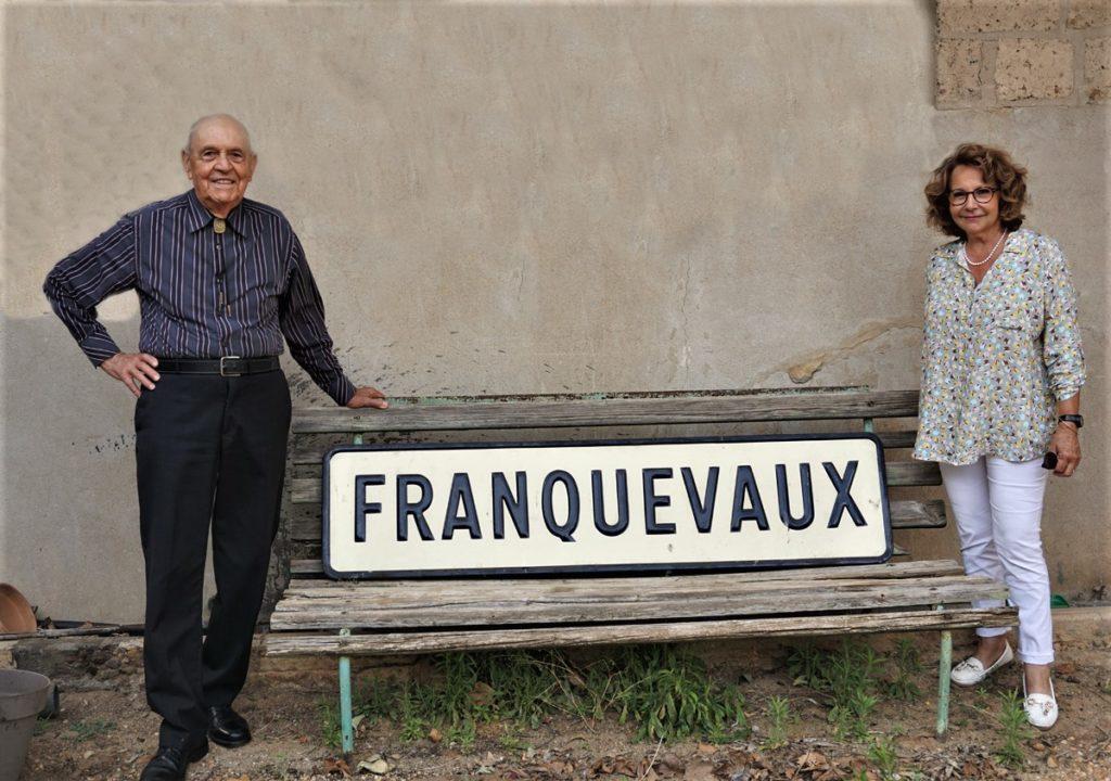 Plaque de la gare de Franquevaux