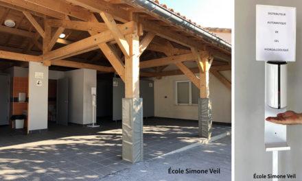 Aimargues : Des bornes de gel hydroalcoolique dans les Écoles et les lieux accueillant du public