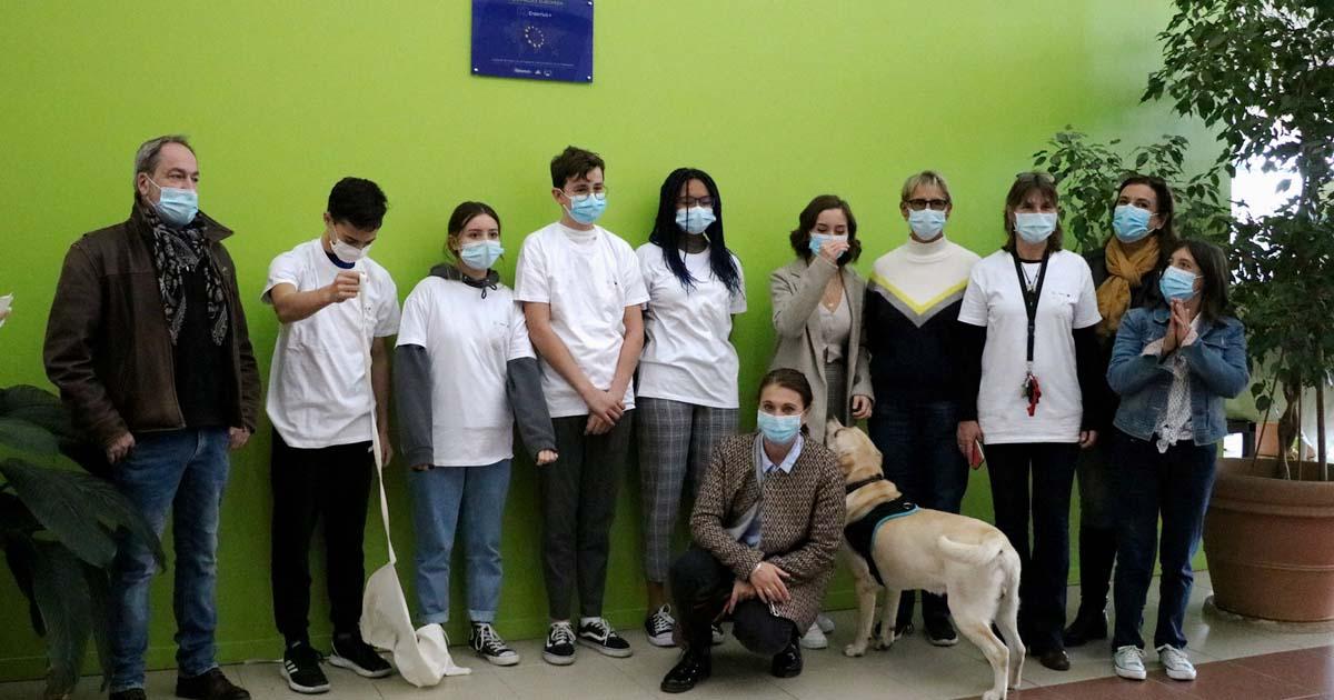 Erasmus : Une plaque a été posée au collège pour marquer le premier projet de mobilité européenne