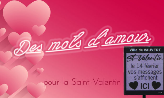 Les mots d'amour s'affichent pour la Saint-Valentin