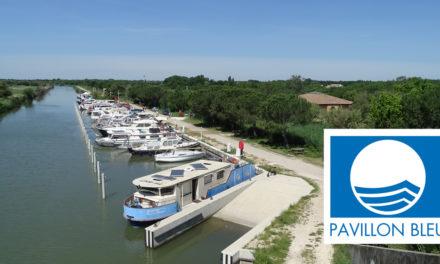 Label Pavillon bleu pour le port de plaisance de Gallician